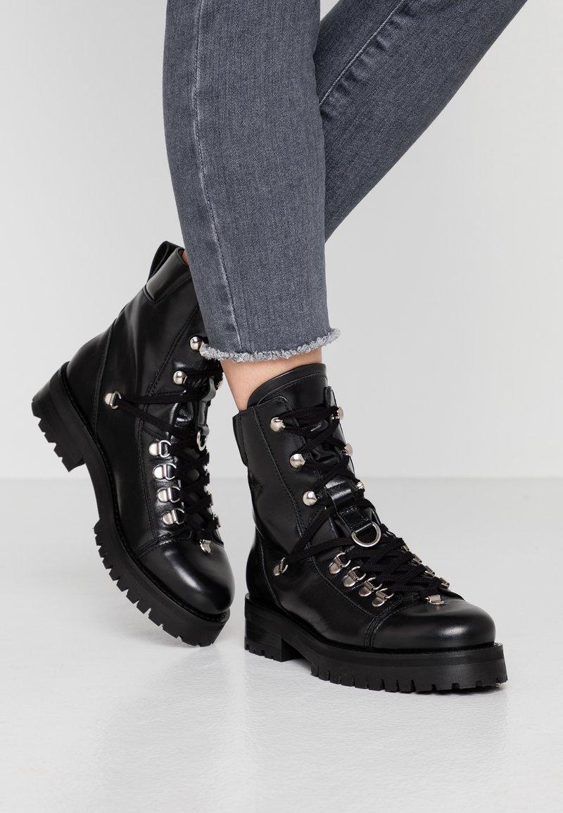 AllSaints - FRANKA - Cowboy/biker ankle boot - black