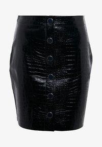 AllSaints - BELA SKIRT - Pencil skirt - croc black - 4