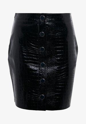 BELA SKIRT - Blyantnederdel / pencil skirts - croc black
