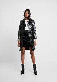 AllSaints - BELA SKIRT - Pencil skirt - croc black - 1