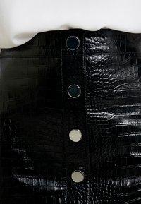 AllSaints - BELA SKIRT - Pencil skirt - croc black - 5