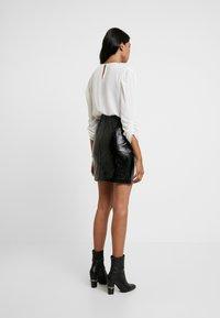 AllSaints - BELA SKIRT - Pencil skirt - croc black - 2