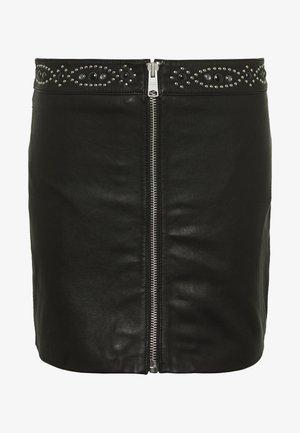 LUNA STUDDED SKIRT - Spódnica mini - black