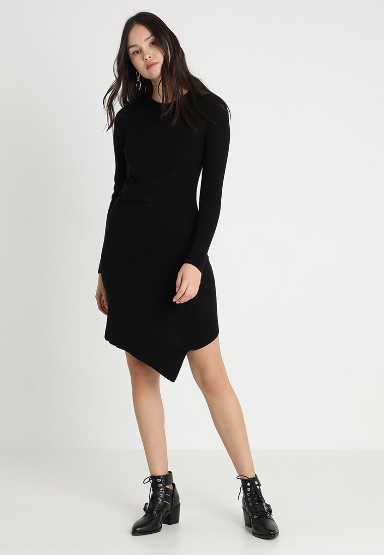 AllSaints - KRISTA DRESS - Strickkleid - black