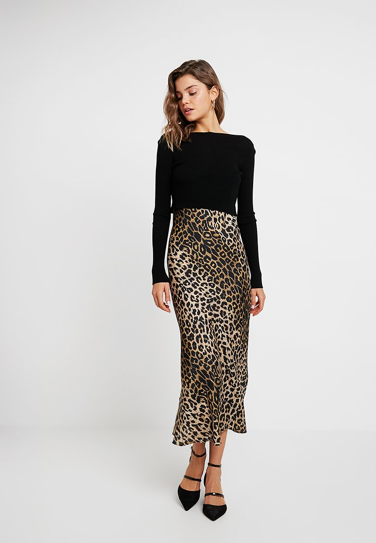 AllSaints - HERA LEPPO DRESS 2-IN-1 - Maxikleid - black