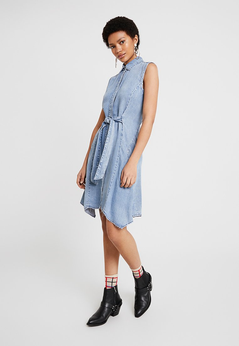 AllSaints - FRANCIS DRESS - Denim dress - indigo blue