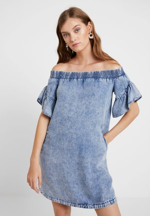 ADELA DRESS - Dongerikjole - indigo blue