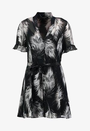 FEATHERS DRESS - Skjortekjole - black
