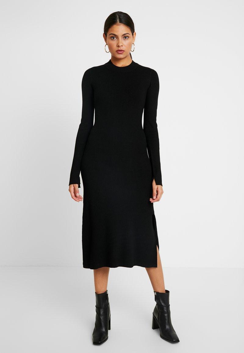 AllSaints - NALA DRESS - Strickkleid - black