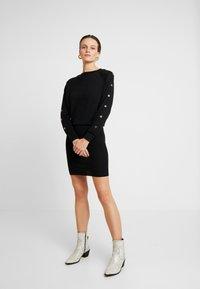 AllSaints - SUZIE EYELET DRESS - Jumper dress - black - 1