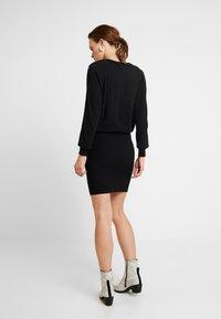 AllSaints - SUZIE EYELET DRESS - Jumper dress - black - 2