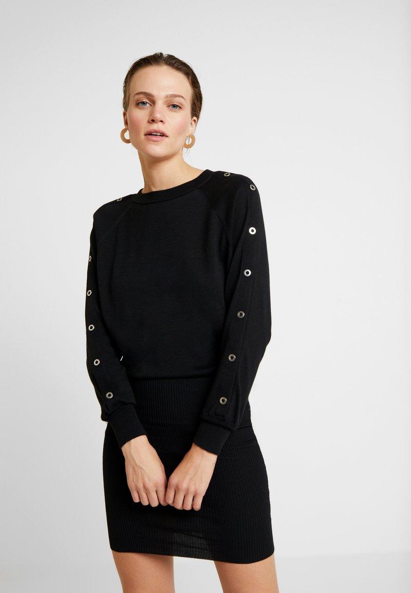AllSaints - SUZIE EYELET DRESS - Vestido de punto - black