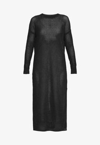 AllSaints - SHINE DRESS - Strikket kjole - black/caramel
