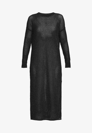 SHINE DRESS - Abito in maglia - black/caramel