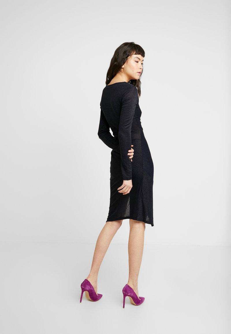 AllSaints - RINA GLITZ WRAP DRESS - Strikket kjole - ink blue