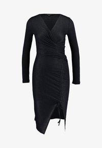 AllSaints - RINA GLITZ WRAP DRESS - Strikket kjole - ink blue - 3