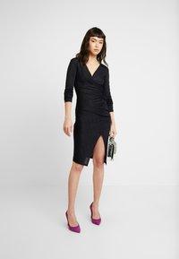 AllSaints - RINA GLITZ WRAP DRESS - Strikket kjole - ink blue - 5