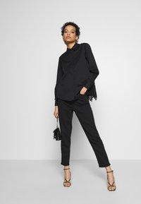 AllSaints - IRIS LACE SHIRT - Bluser - black - 1