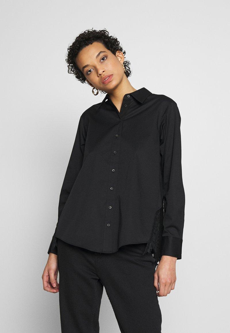AllSaints - IRIS LACE SHIRT - Bluser - black