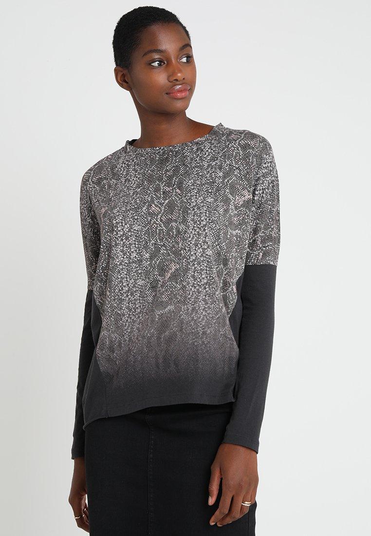 AllSaints - KAA WAVE TEE - Langarmshirt - fadeout black