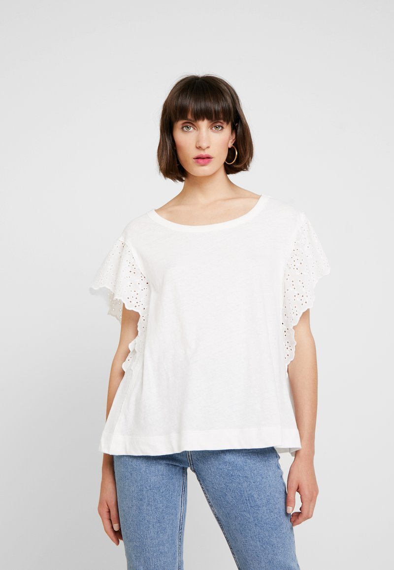 AllSaints - NOJA TEE - Print T-shirt - chalk white