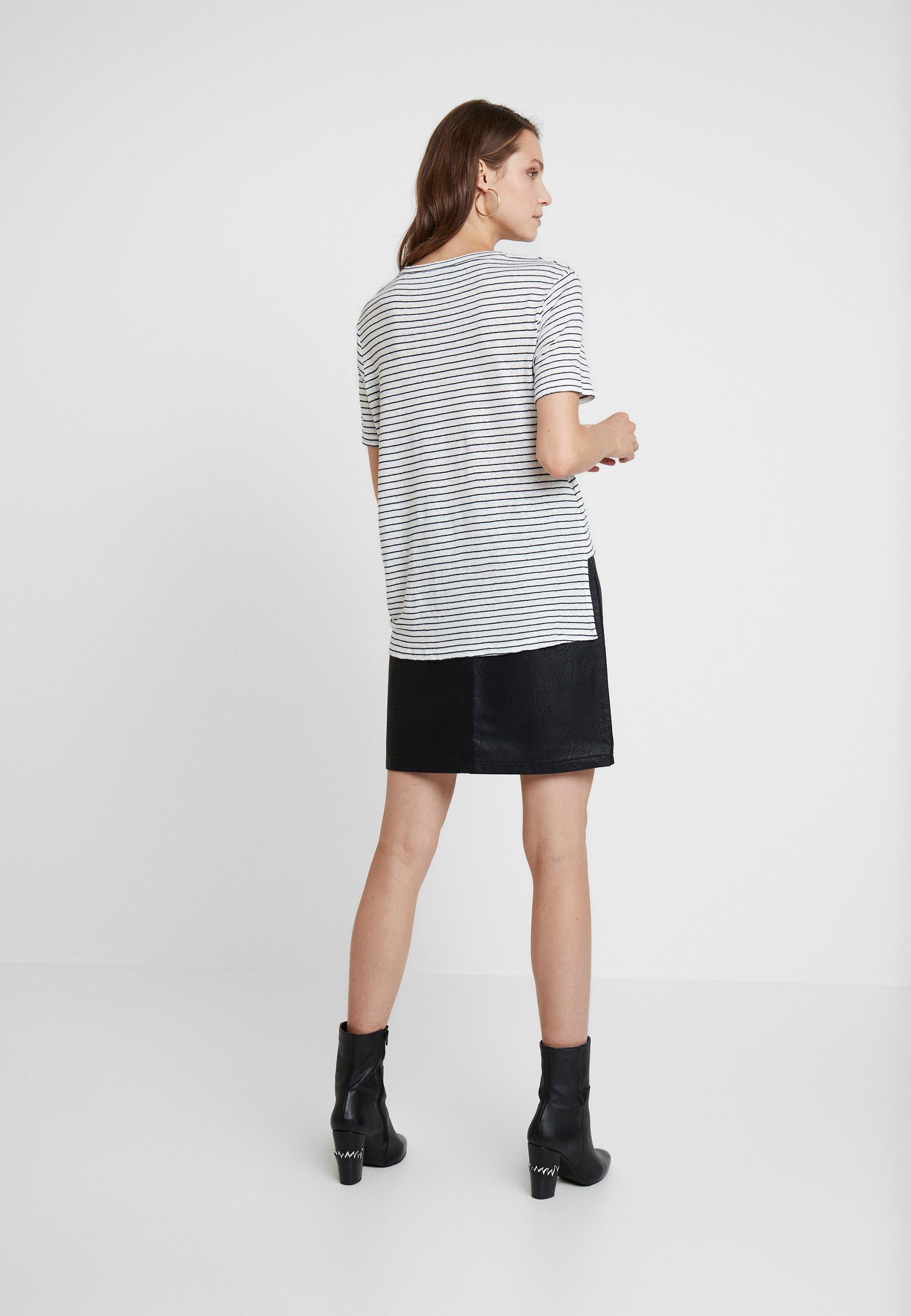 TeeT ink shirt Chalk Wilma Allsaints Imprimé Stripe 53ARjq4L