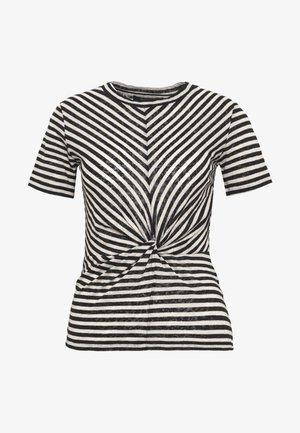 JESS STRIPE TEE - T-shirts med print - black/ecru