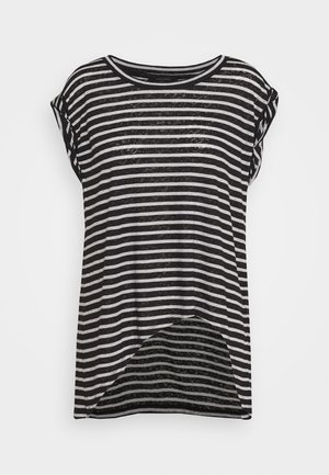 SANZA STRIPE TANK - T-shirt med print - black/chalk