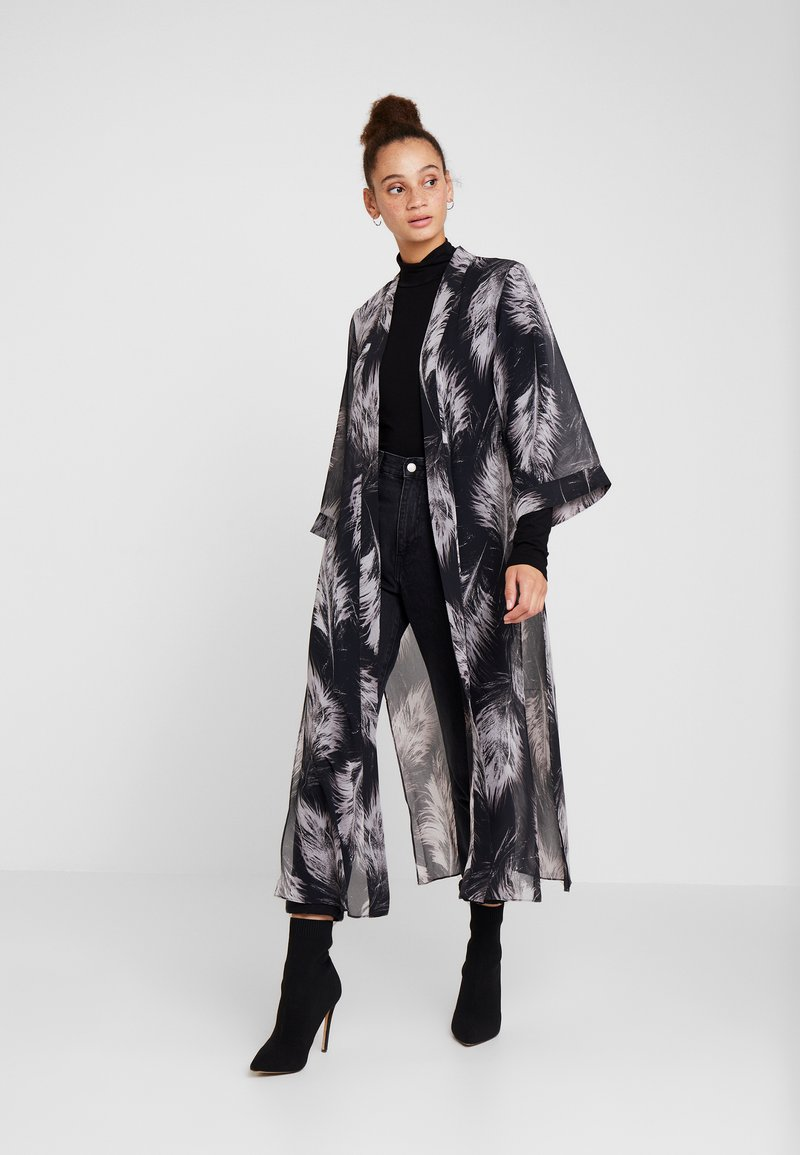 AllSaints - CARINE FEATHERS KIMONO - Summer jacket - black