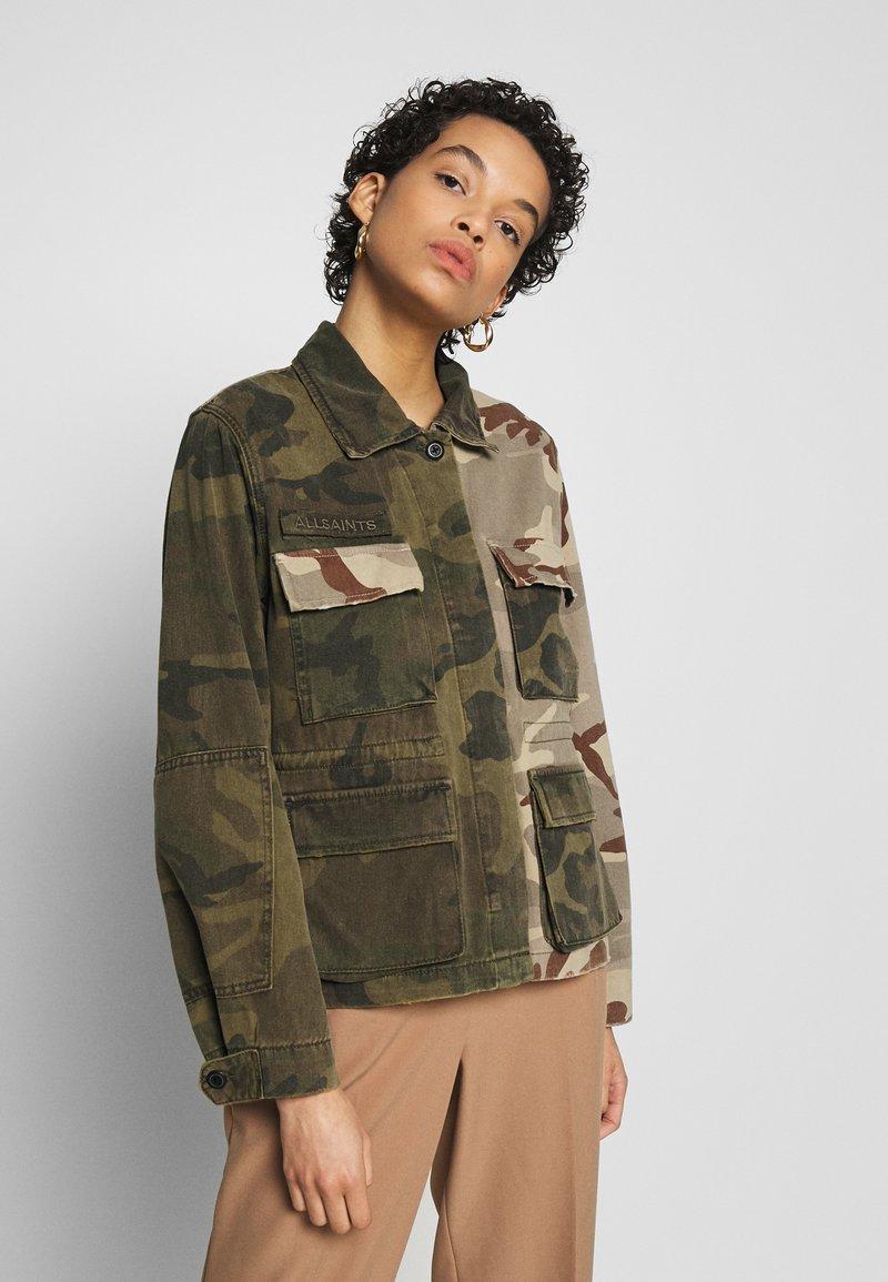 AllSaints - FINCH CAMO JACKET - Denim jacket - camo green