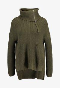 AllSaints - KADINE FUNNEL NECK - Maglione - military green - 4