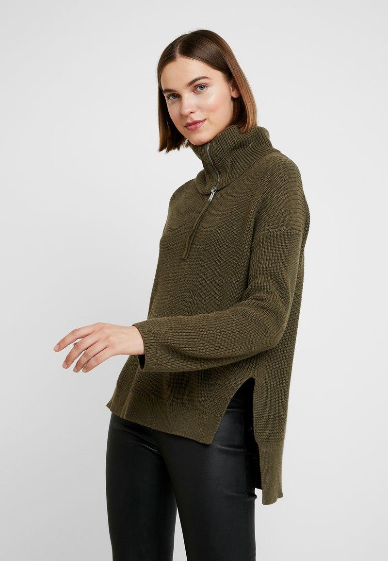 AllSaints - KADINE FUNNEL NECK - Maglione - military green