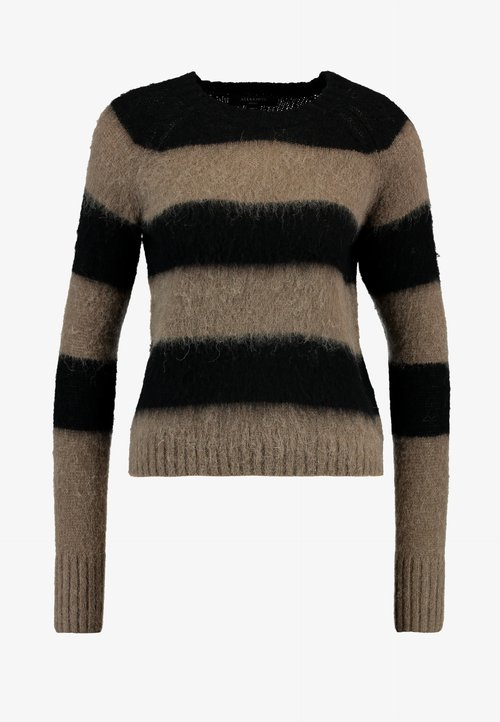 AllSaints LOU JUMPER - Sweter - wolf grey/black Odzież Damska QDTT-PM9 ZMNIEJSZONE O 50%