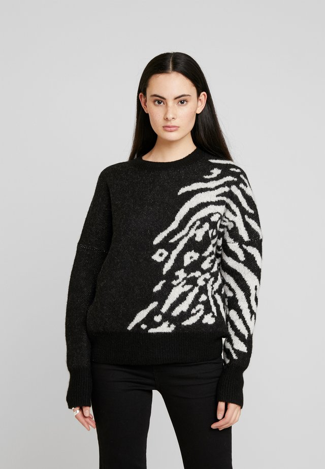KARINA JUMPER - Neule - black/chalk white