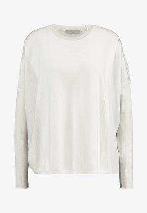 KOKO WRAP CREW NECK - Sweter - chalk white