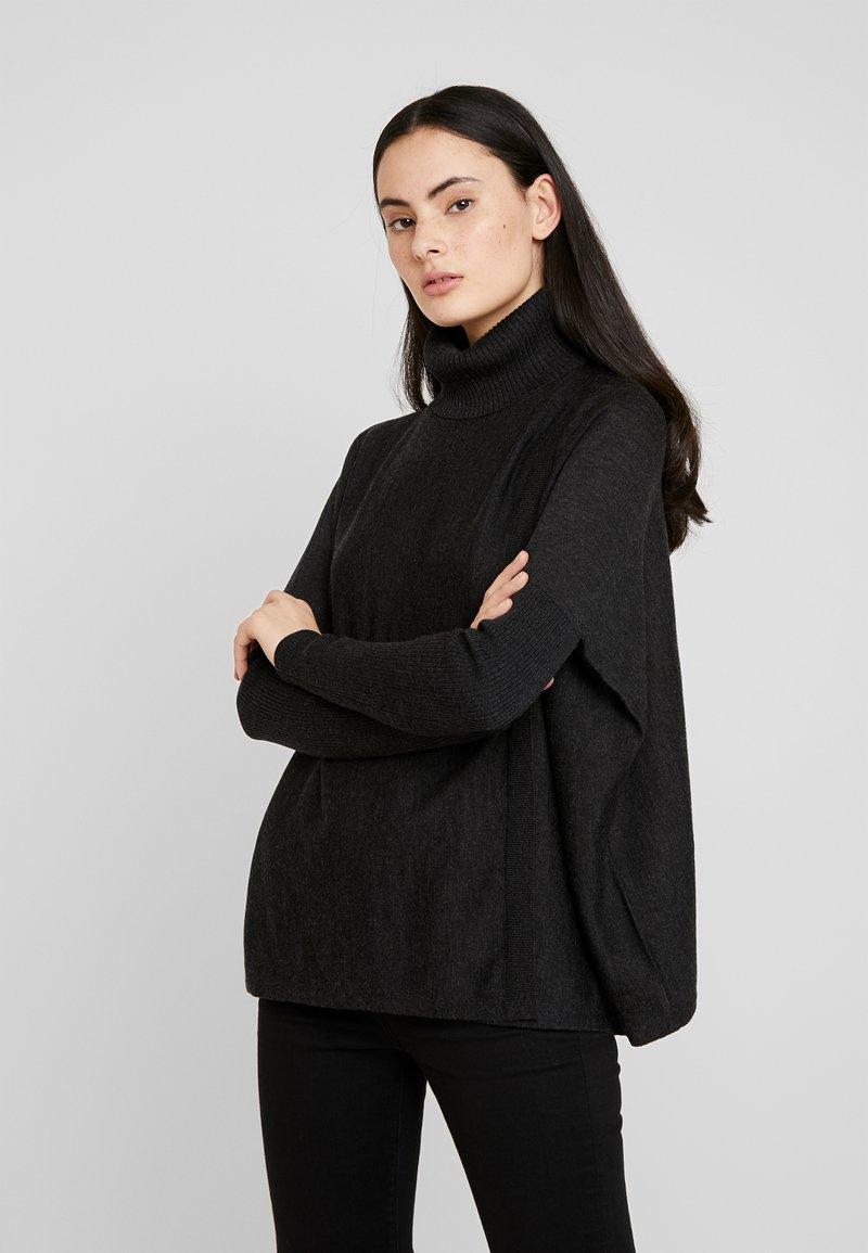 AllSaints - KOKO WRAP JUMPER - Strikkegenser - black
