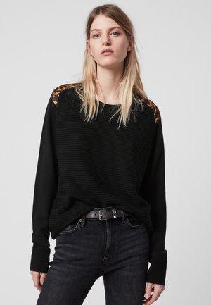 BAYA AMBIENT - Strickpullover - black/brown