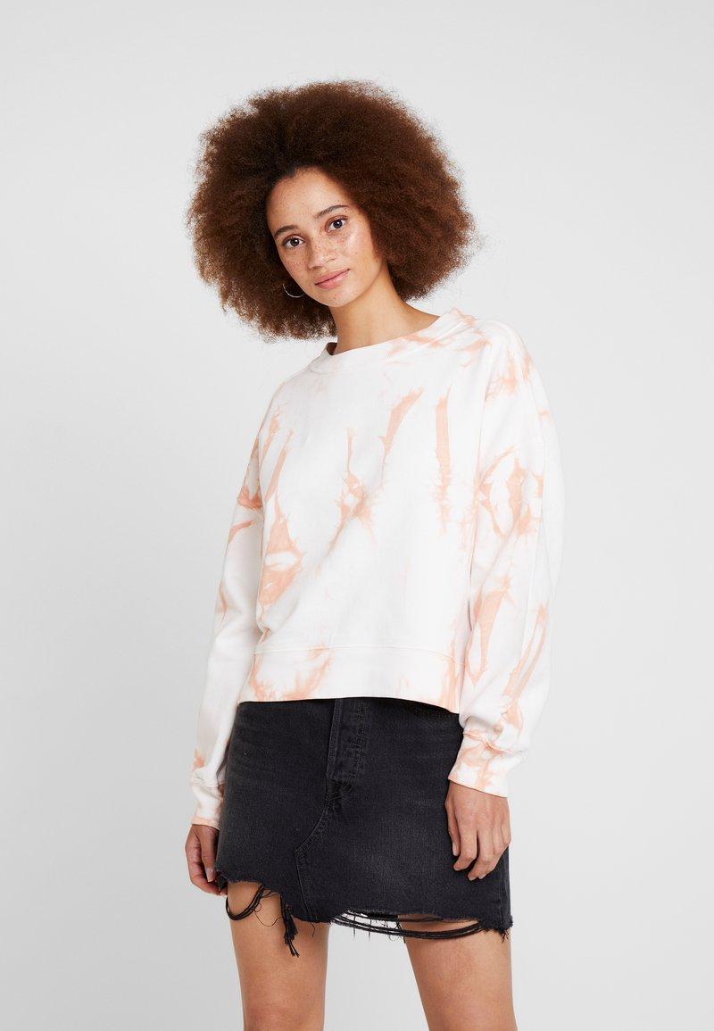 AllSaints - RISO TIEDYE - Sweatshirt - chalk/bleach pink
