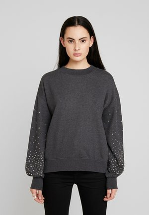 STAR STUD - Sweater - charcoal