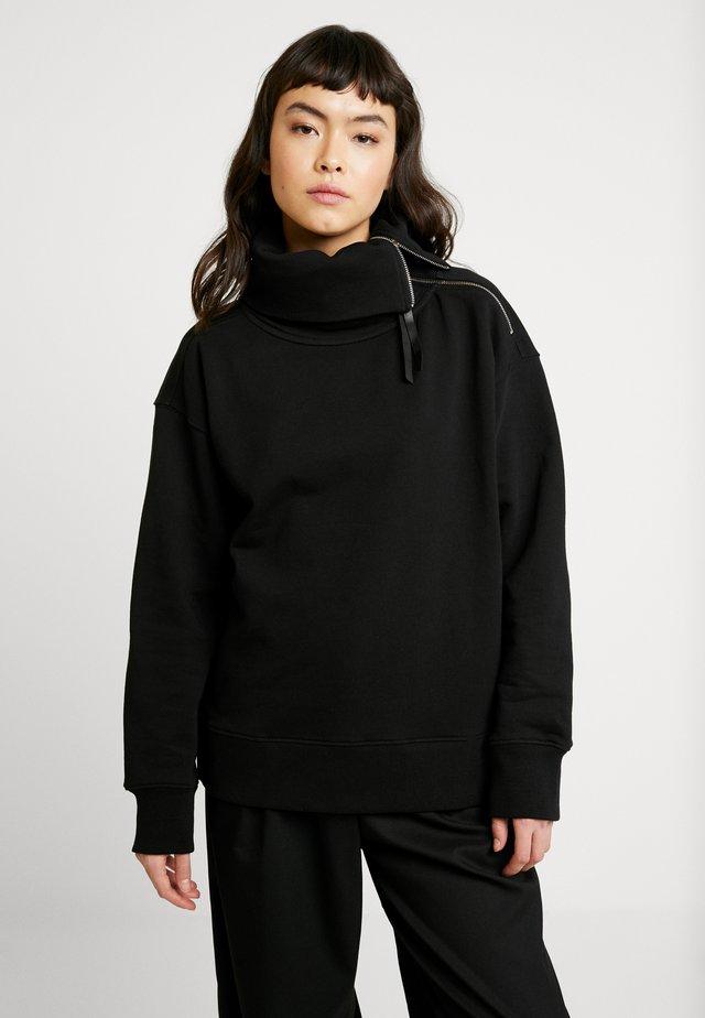 BELLA ZIP FRONT - Sweatshirts - black