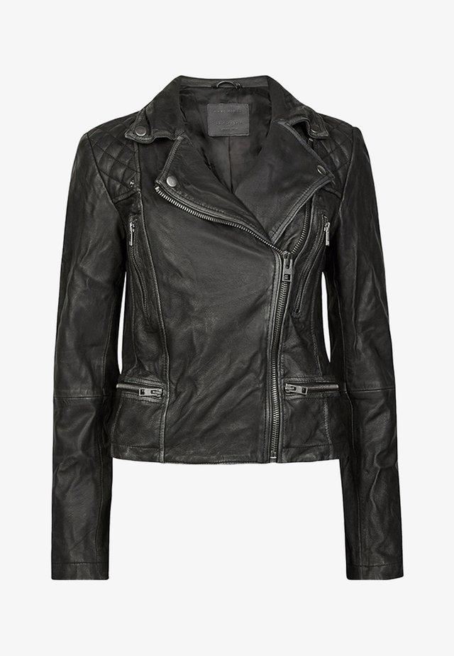Læderjakker - black/grey