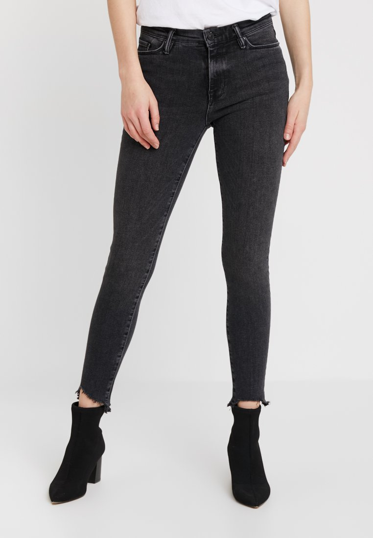 AllSaints - GRACE ANKLE FRAY - Jeans Skinny Fit - washed black