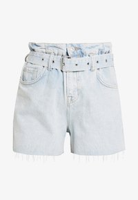 AllSaints - HANNAH PAPER BAG - Denim shorts - light-blue denim - 6