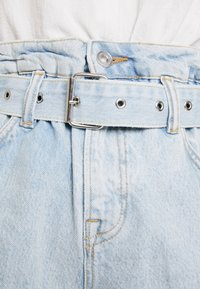AllSaints - HANNAH PAPER BAG - Denim shorts - light-blue denim - 7
