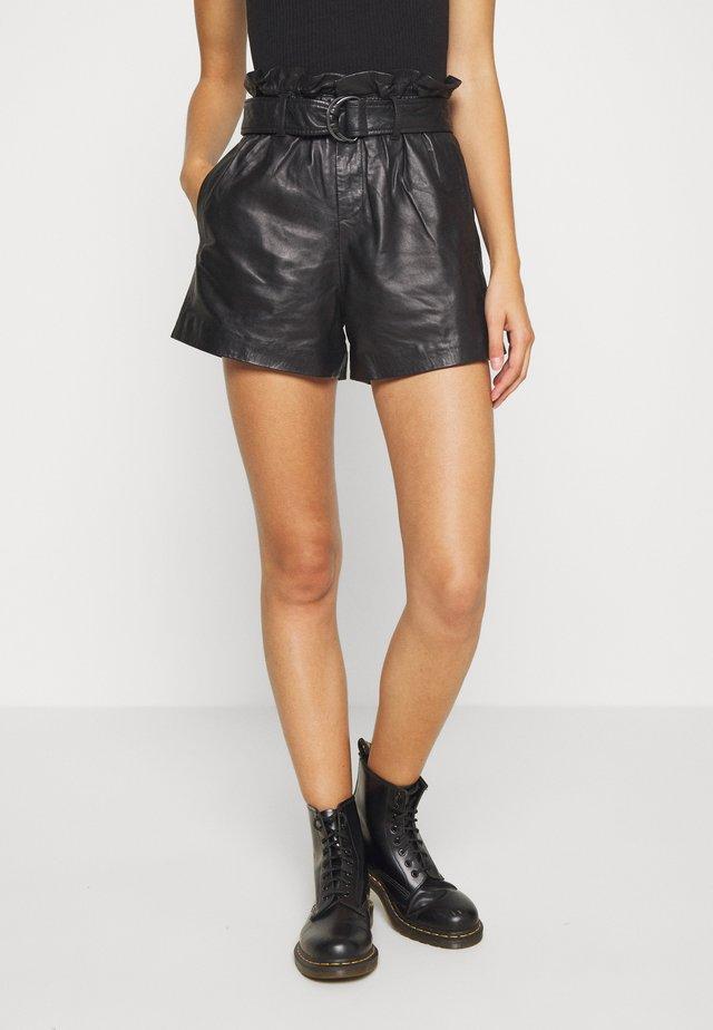 ERICA  - Pantalon en cuir - black