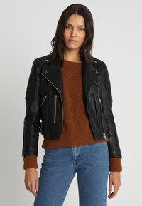 AllSaints - ESTELLA BIKER - Leren jas - black - 0
