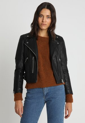 ESTELLA BIKER - Leather jacket - black
