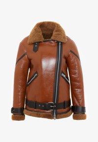 AllSaints - HAWLEY SHEARLING - Skinnjakke - rust brown - 5