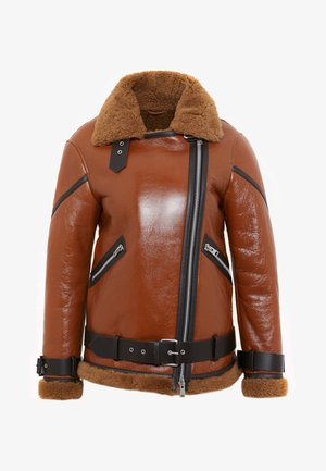 HAWLEY SHEARLING - Skinnjakke - rust brown