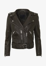 BALFERN BIKER - Leather jacket - dark grey
